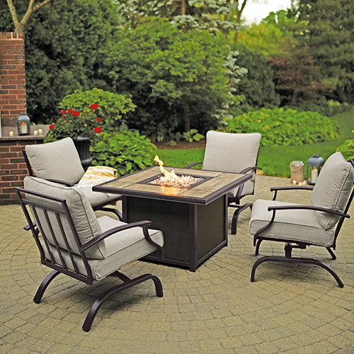 Halsted 5-Pc. Fire Table Chat Set